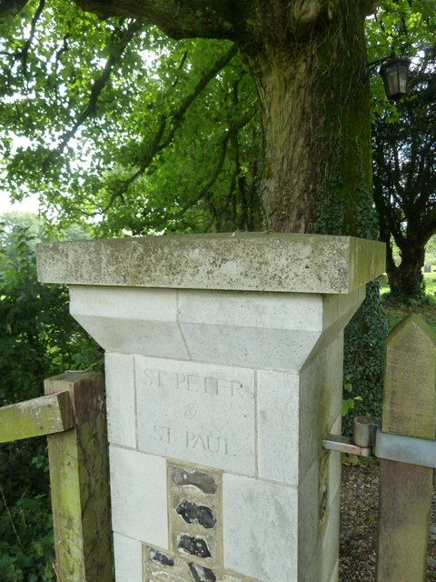Shalden- inscription on the churchyard gate