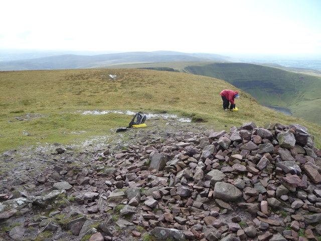 Part of the summit cairn on Picws Du