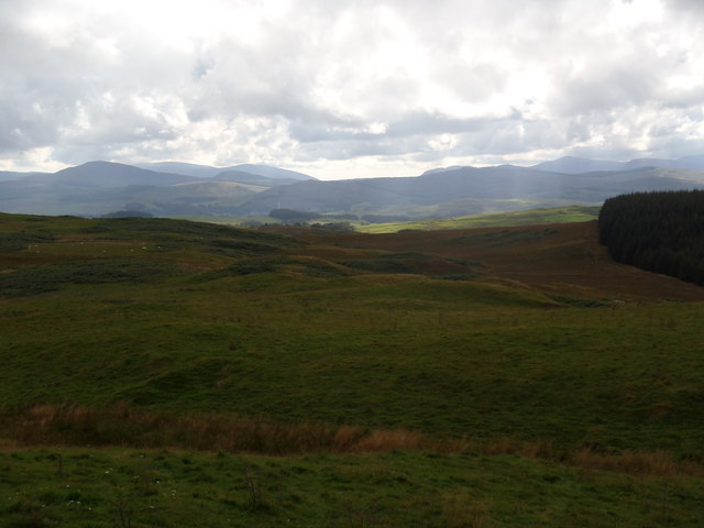 Cairnsmore of Fleet and the Southern Rhinns from below the Green Top of Duchrae