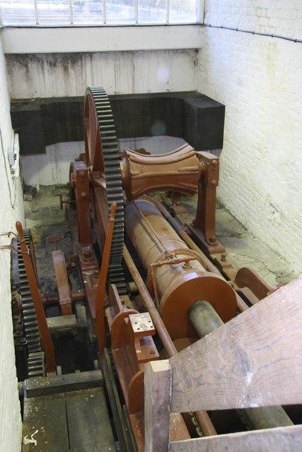 Nelson Dock, hydraulic slipway winch.