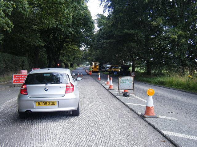 Chelford Road roadworks