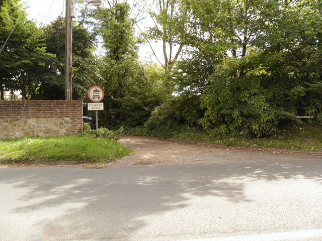 Minor road joining the A272, Ansty, West Sussex