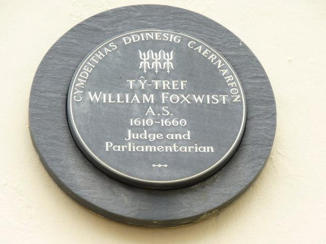 Tŷ-Tref William Foxwist A.S. 1610 - 1660, Caernarfon