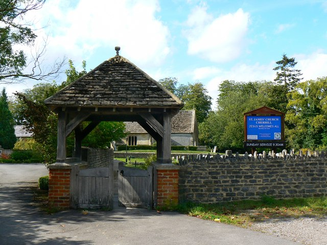 Lych gate, Church of St James, Cherhill