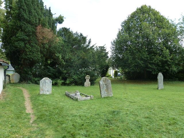 Saint Mary's, Upton Grey: churchyard