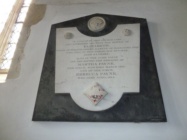 Saint Mary's, Upton Grey: memorial (2)