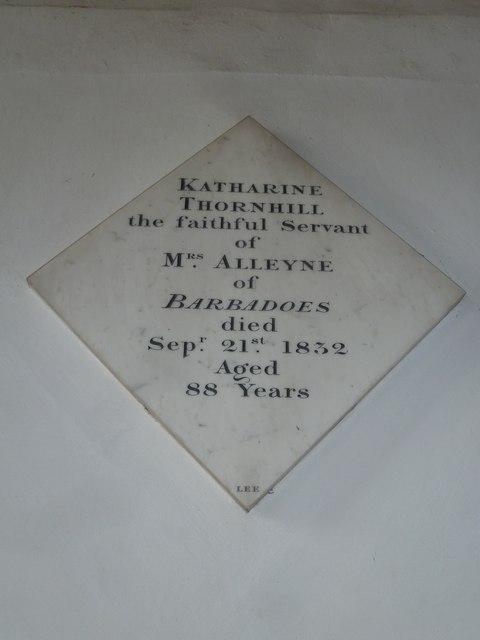 Saint Mary's, Upton Grey: memorial (3)