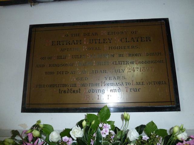 Saint Mary's, Upton Grey: memorial (5)