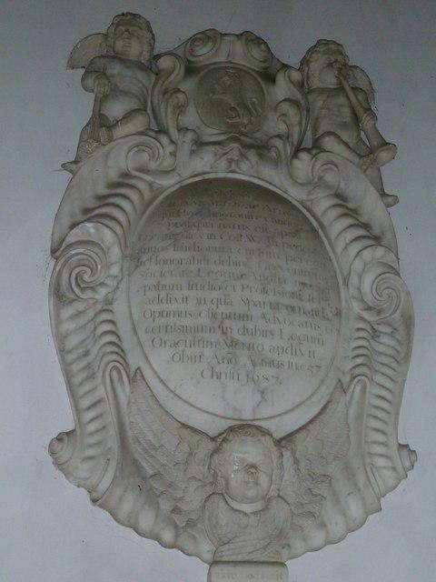 Saint Mary's, Upton Grey: memorial (8)