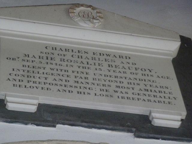 Saint Mary's, Upton Grey: memorial (10)
