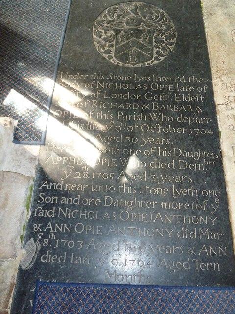 Saint Mary's, Upton Grey: ledger slab (c)
