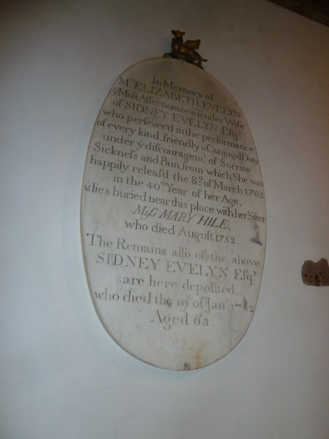 Saint Mary's, Upton Grey: memorial (12)