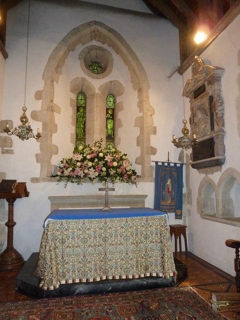 Saint Mary's, Upton Grey: main altar