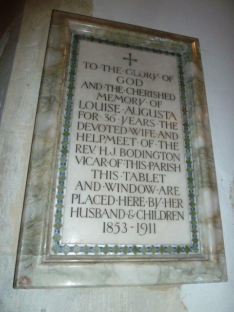 Saint Mary's, Upton Grey: memorial (13)