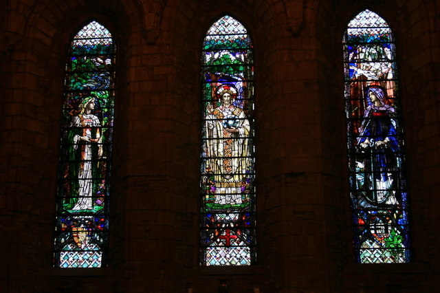 The eastern windows of Dornoch cathedral