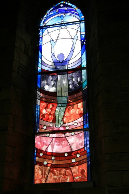 The newest stained glass in Dornoch cathedral