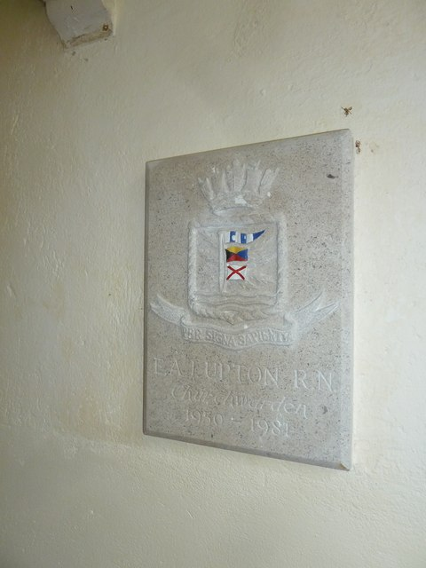 Plaque in St Stephen's Church - Up Nately (b)