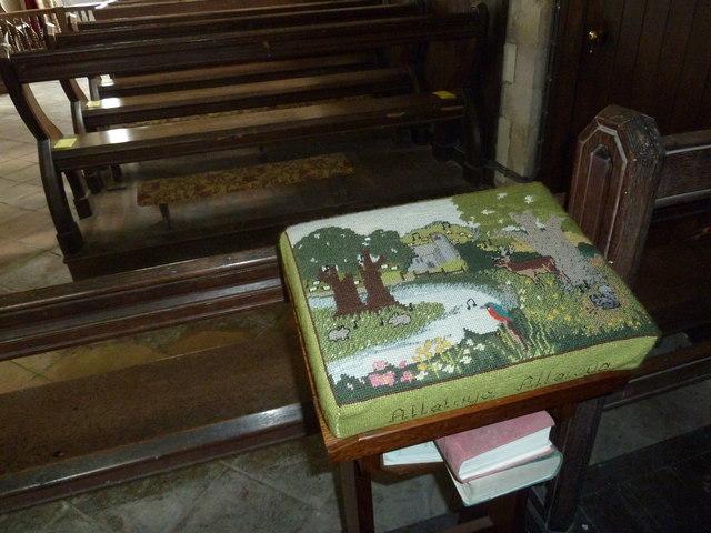Up Nately- St Stephen's: kneeler