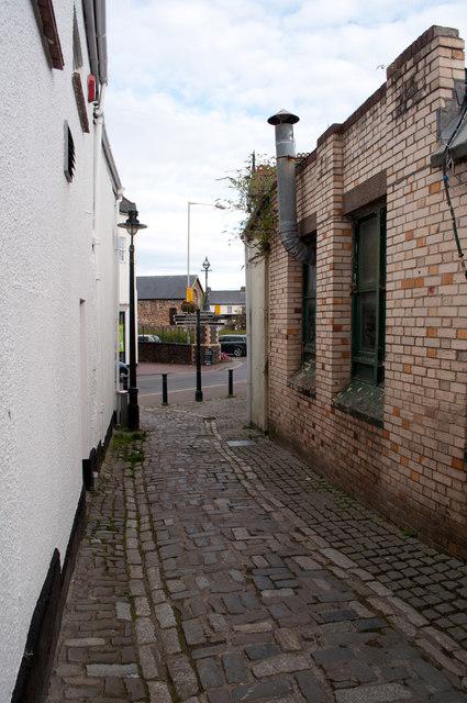 Green Lane, Barnstaple facing the High Street