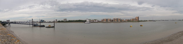 Panorama near Royal Arsenal Woolwich