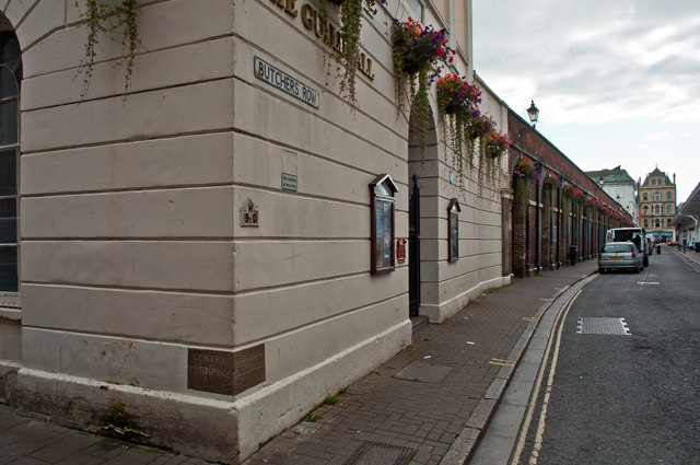 The Corner of The Guildhall and some of Butchers Row