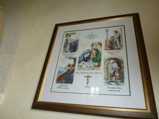 Up Nately- St Stephen's: tapestry