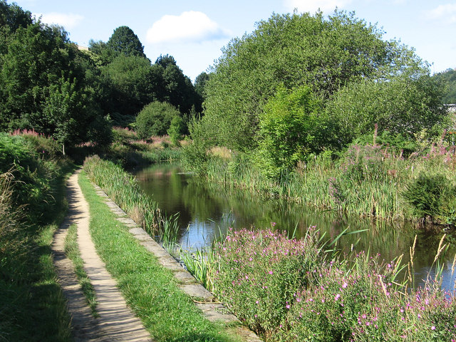 Milnsbridge - canal west of Lock 11