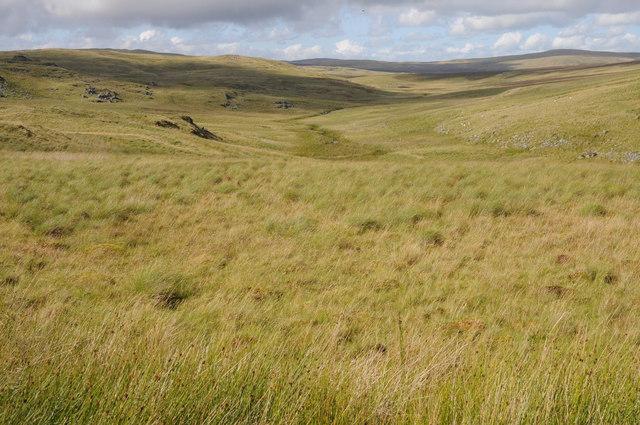Moorland around Afon Taihirion