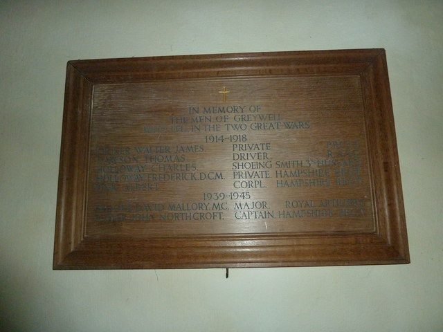 Greywell: Church of St. Mary the Virgin- Great War Memorial