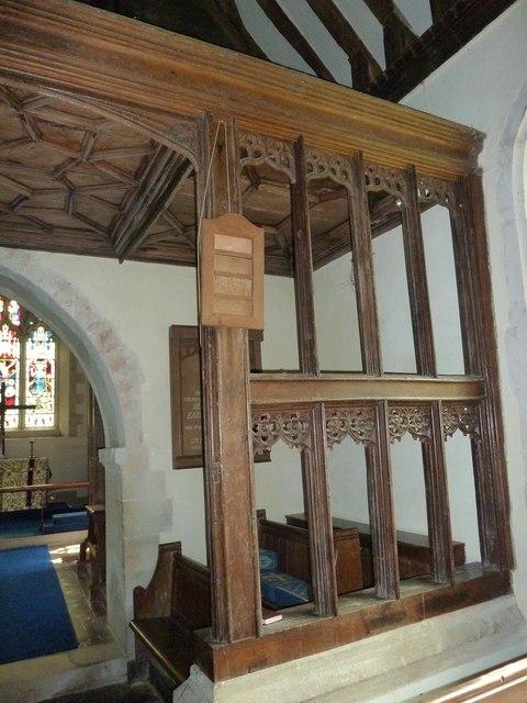 Greywell: Church of St. Mary the Virgin- canopy