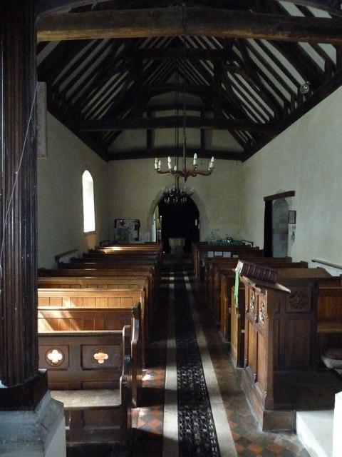 Greywell: Church of St. Mary the Virgin- aisle