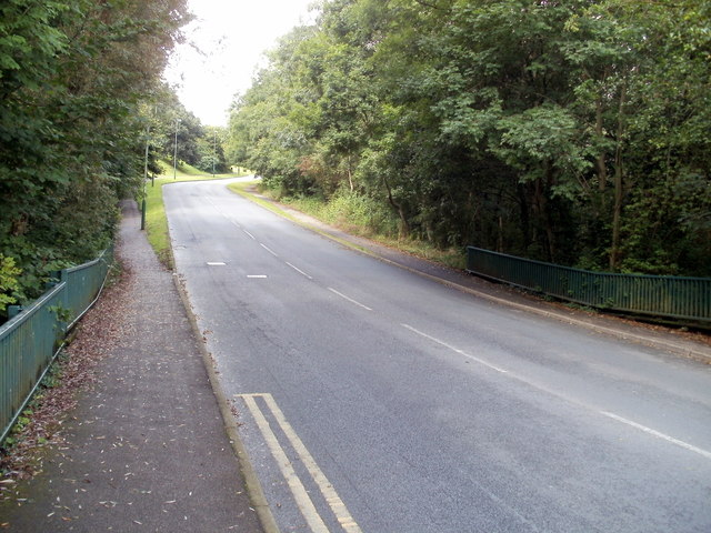 Hendredenny Drive passes over Nant-yr-aber, Caerphilly