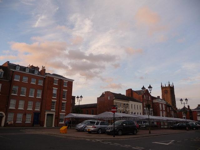 Castle Square, Ludlow, evening