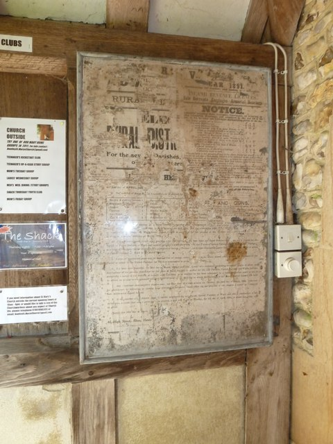 St. Mary, Bentley: ancient notice board