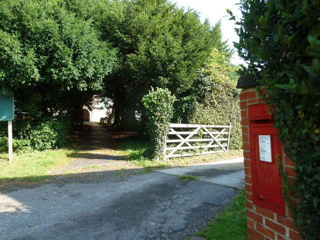 Postbox by Bentley Church