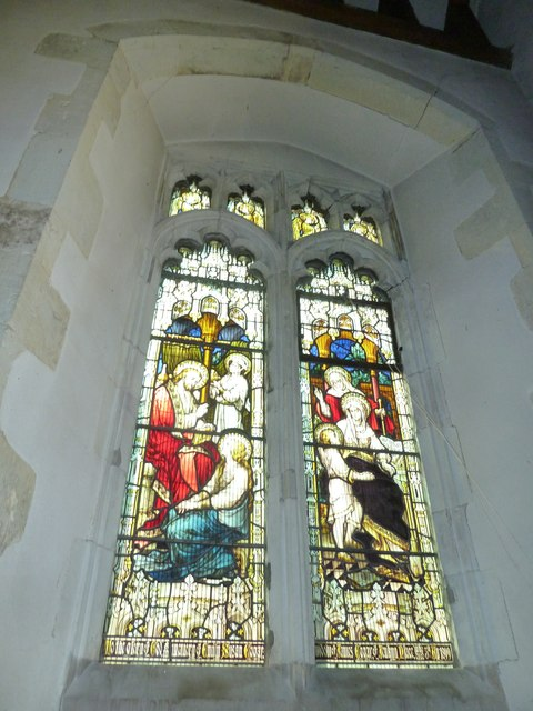 St. Mary, Bentley: stained glass window (1)