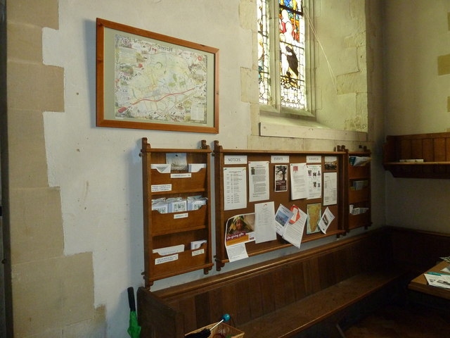 St. Mary, Bentley: modern notice board