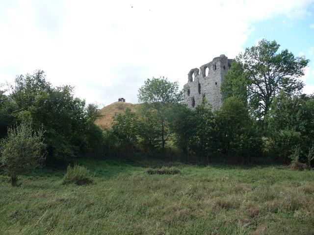 Part of Clun Castle