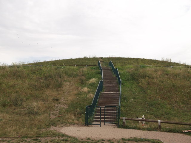 Steps up Gallions Hill