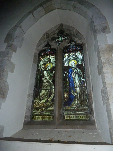 St. Mary, Bentley: stained glass window (2)