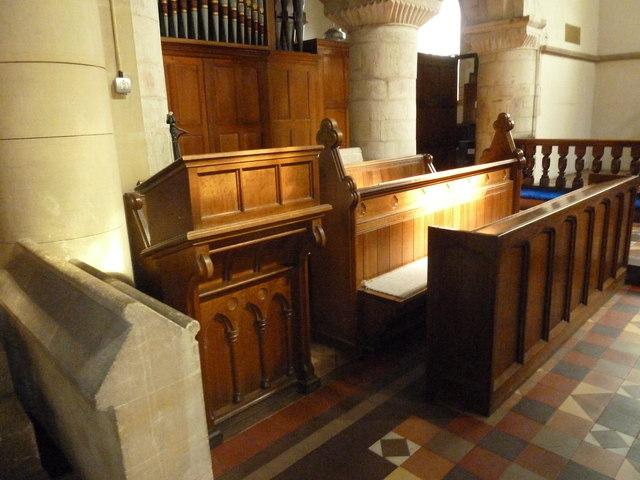 St. Mary, Bentley: choir stalls
