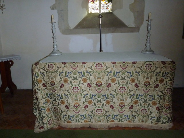 St. Mary, Bentley: side altar