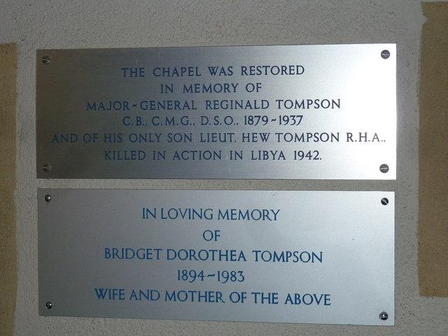 St. Mary, Bentley: memorial (vi)