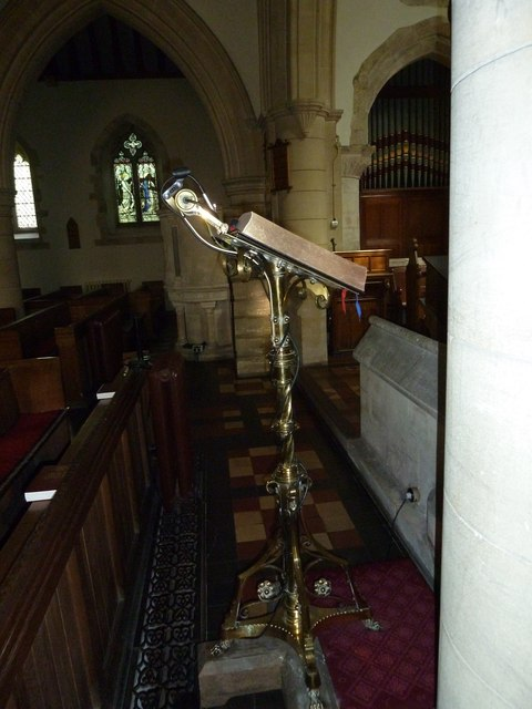 St. Mary, Bentley: lectern