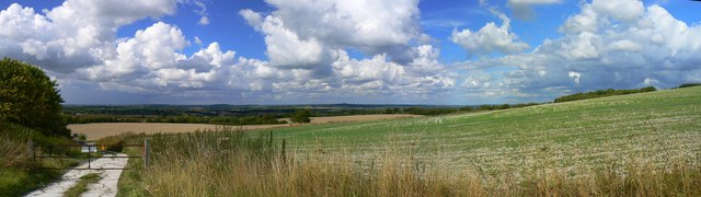 Panoramic view from D'Arcy Dalton Way, Ashbury