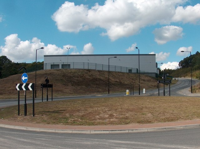 Roundabout on Smithy Wood Industrial Estate