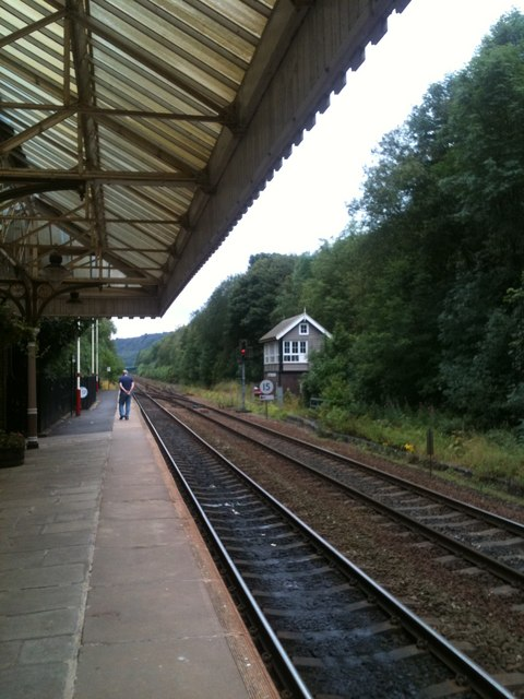 Hebden Bridge station, looking East