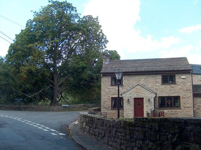 Modern cottage at the junction of Elliott Lane and Whitley Lane