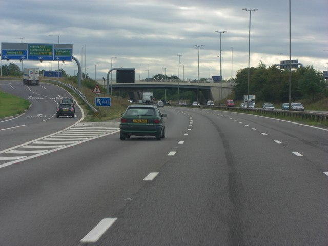 M4 Junction 11 sliproad and overpass