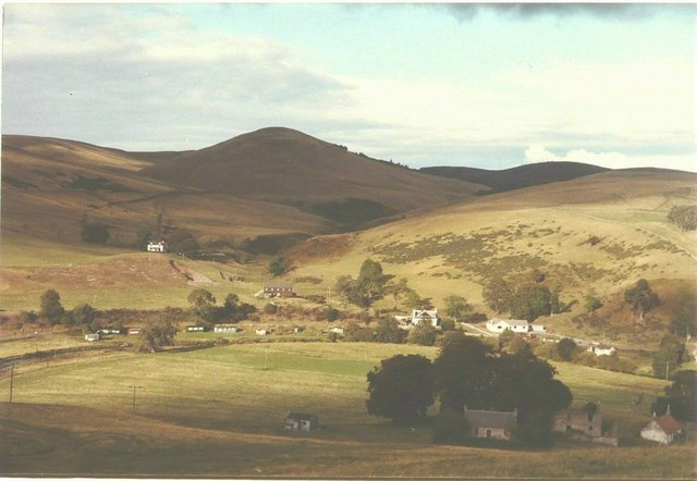 View of Glendevon youth hostel in 1984